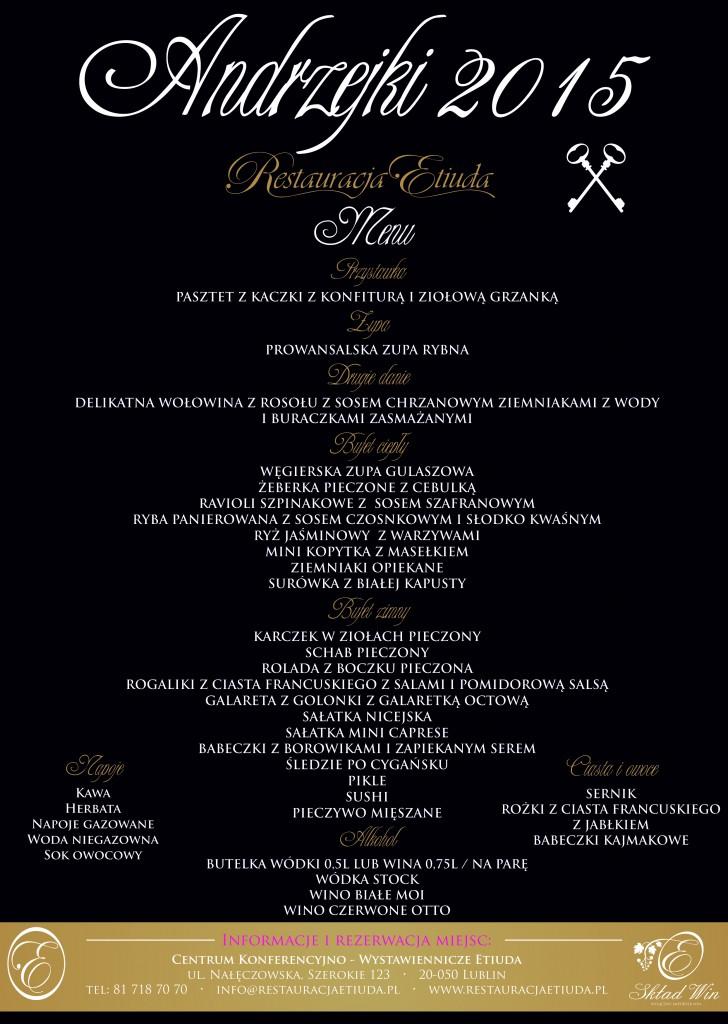 andrzejki menu