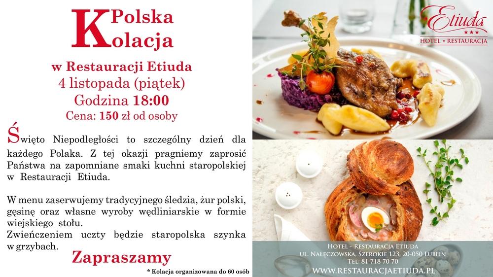 Hotel-Restauracja Etiuda zaprasza na kolację polską