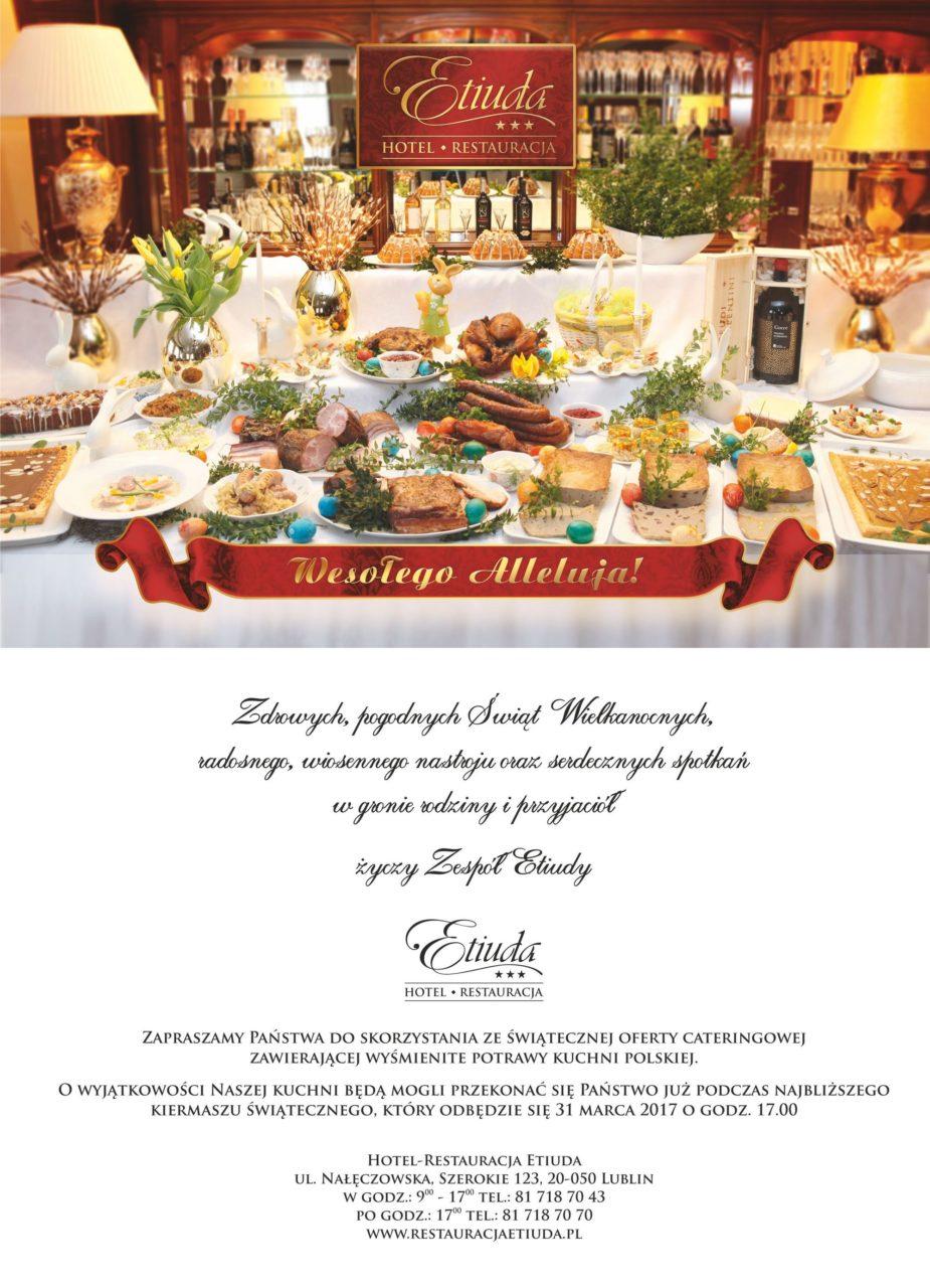Zdrowych, pogodnych Świąt Wielkanocnych życzy Hotel-Restauracja Etiuda